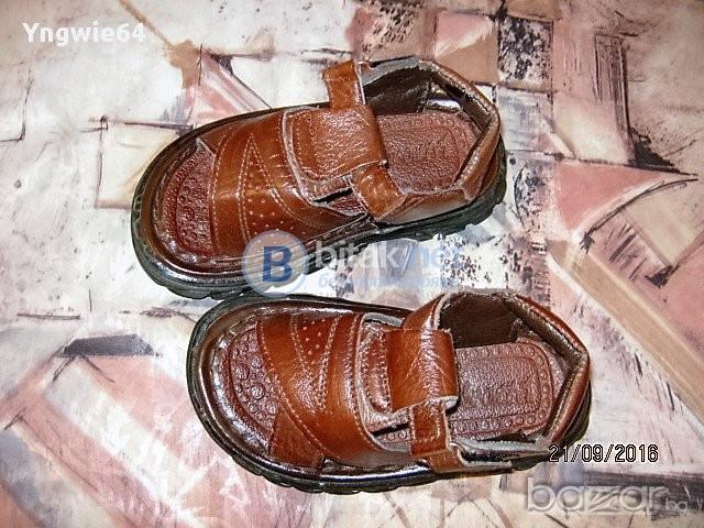 Нови кожени детски сандали/момче/.внос Рига-Латвия.