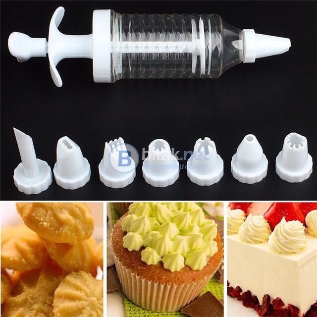 Комплект сладкарски шприц с 7 приставки