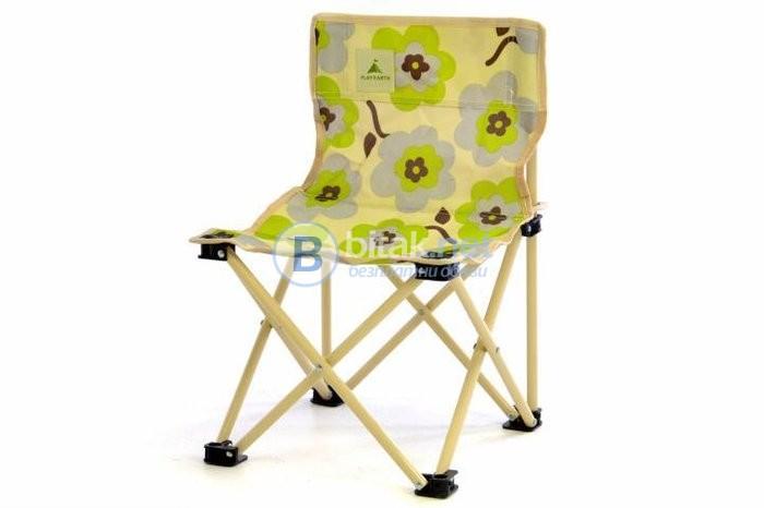Детско сгъваемо столче за пикник, плаж, къмпинг, за малки рибари