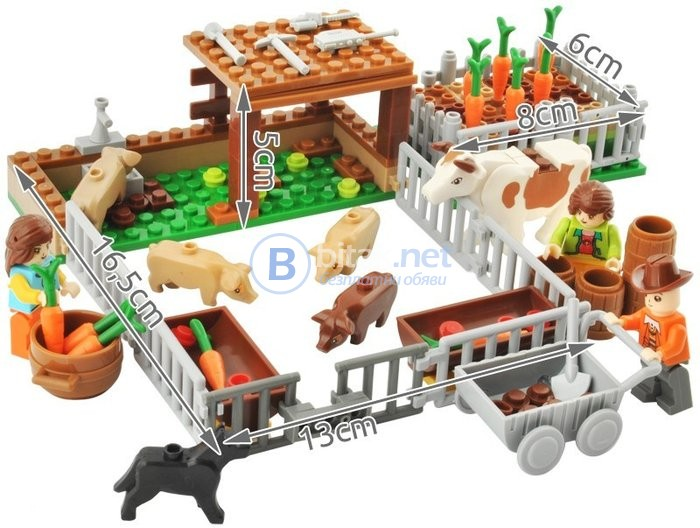 Конструктор селски двор, детска игра, детски конструктор