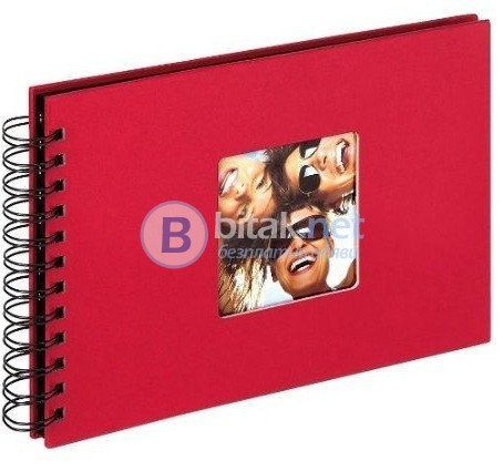 Фотоалбум WALTHER, 40 страници, албум, фото албум, червен