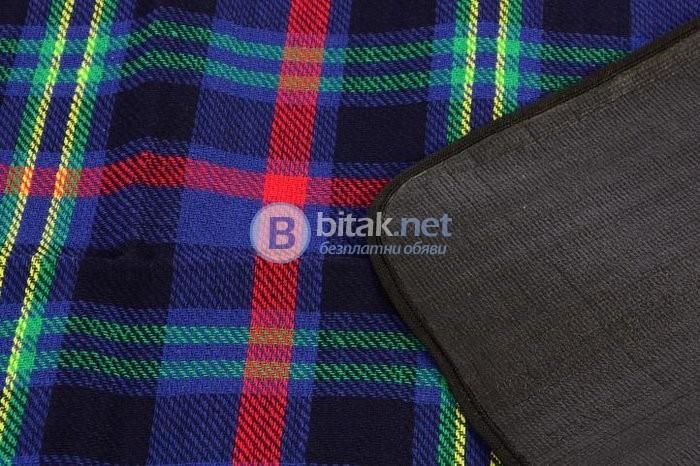 Водоустойчива пикник покривка, къмпинг покривка 150 х 130 см