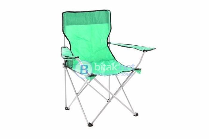 Рибарски стол, сгъваем стол, пикник стол, къмпинг стол - 1 брой, светло зелен - 120 кг