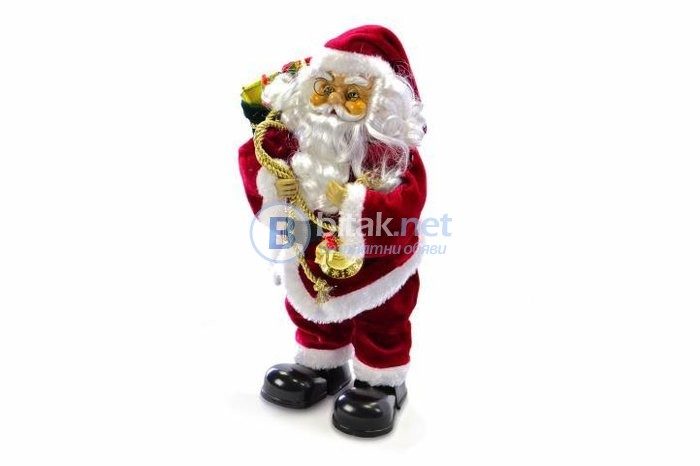 Коледна украса, дядо Коледа, пеещ дядо Коледа, Коледна декорация, дядо Мраз
