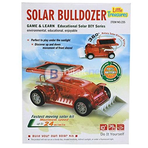 Солаерн конструктор булдозер детска играчка кола със соларен панел