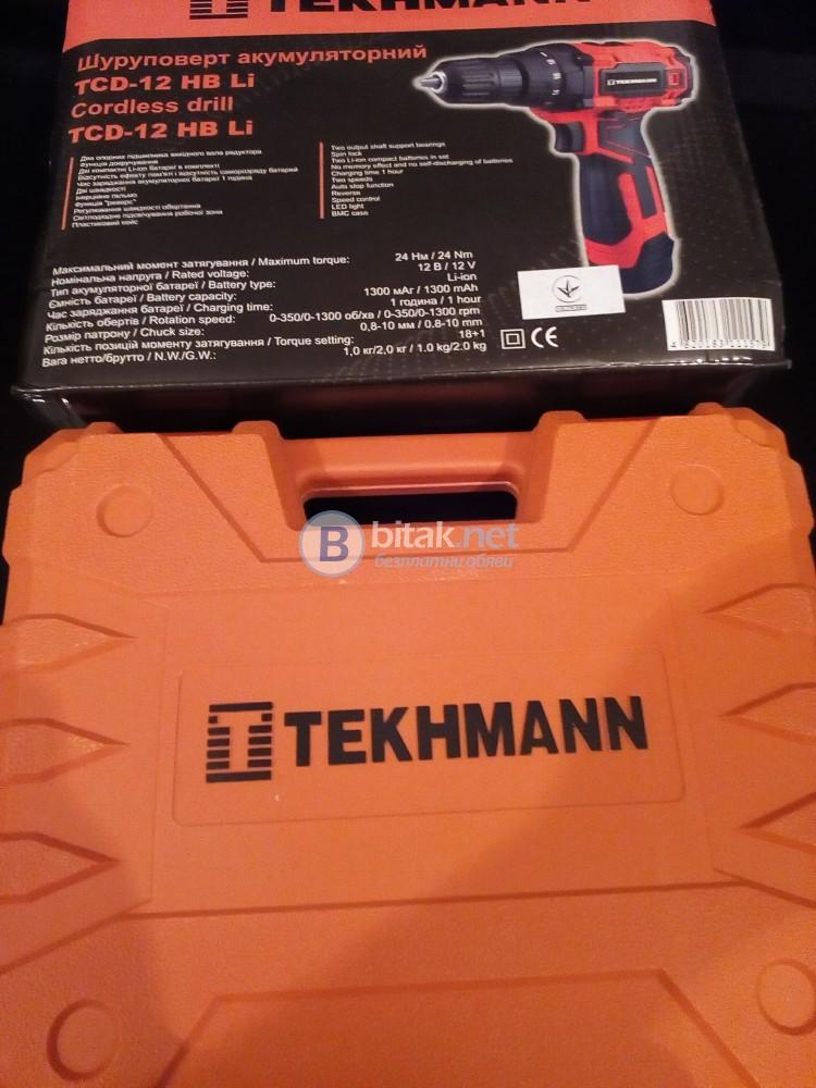 Винтоверт Текхман нов 12 лит. йон батерии нов
