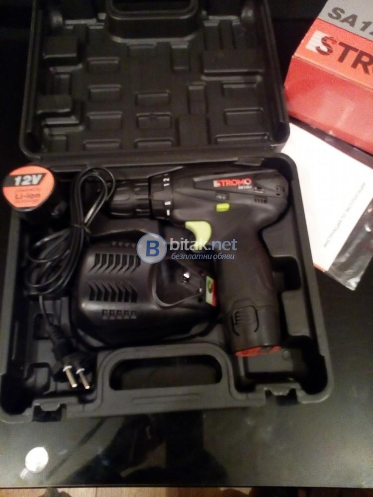 Винтоверт на Батерии Стромо нов LI - ЙОН 12 в