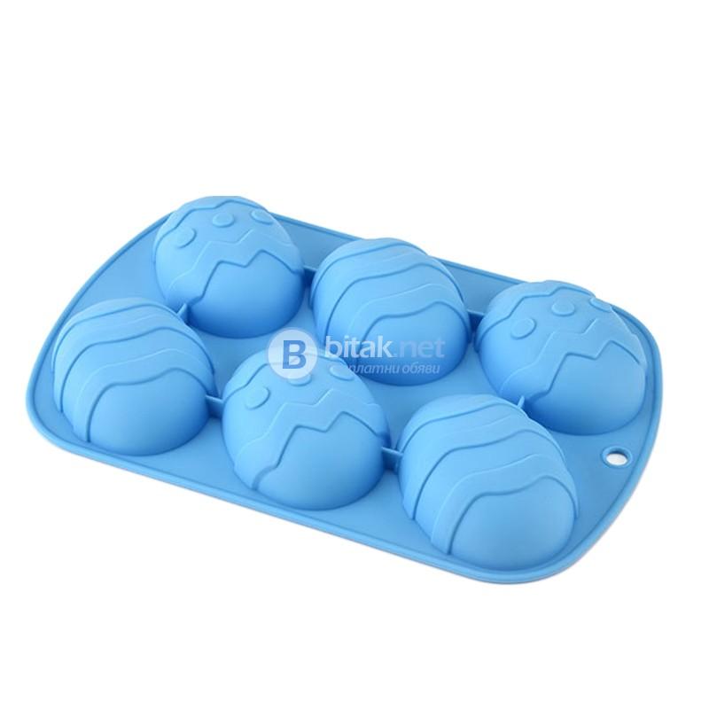 Силиконовa форма - яйца с 6 гнезда