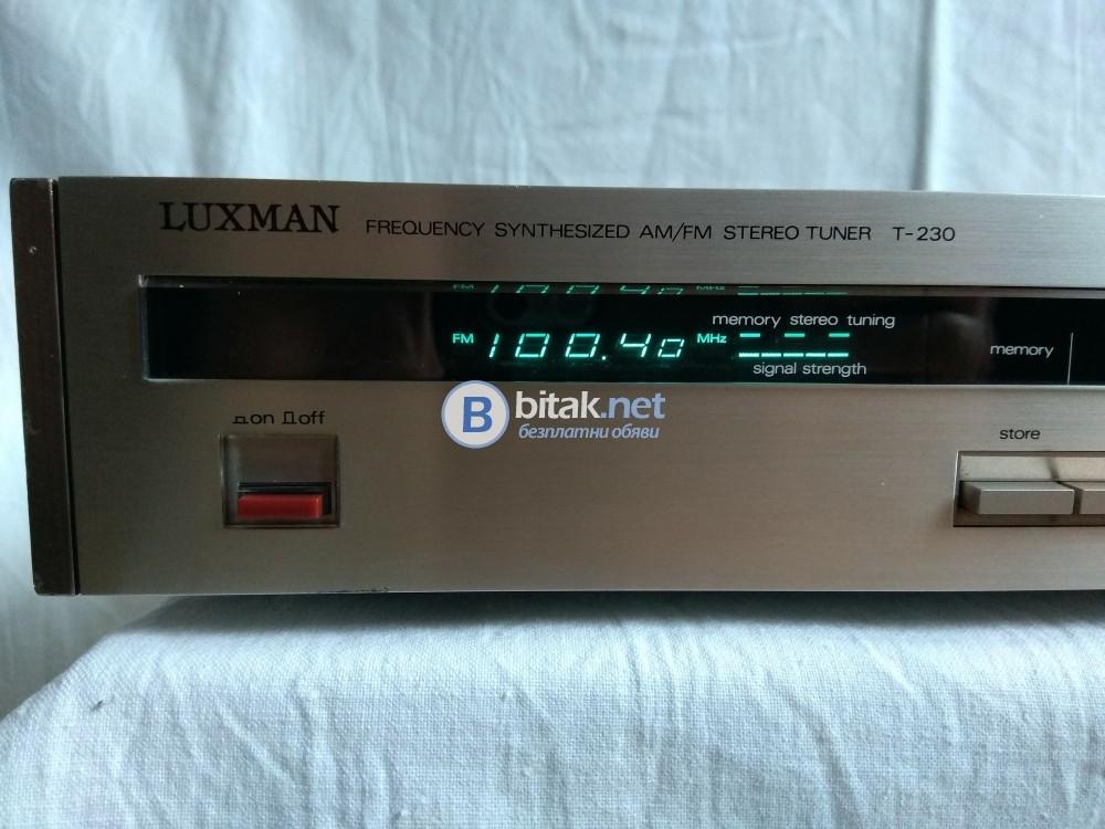 LUXMAN T-230, рядък цифров ретро тунер от серията Ultimate Fidility от 1982 г.