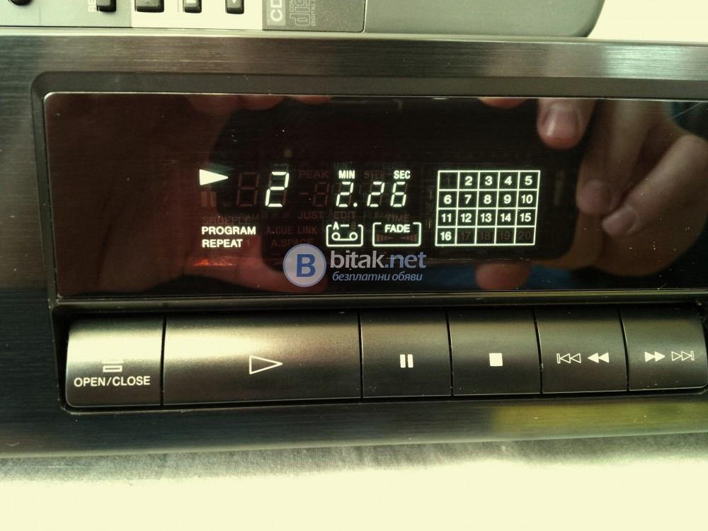 SONY CDP-315 , отличен плеър , като нов , 100dB , THD: 0.0045% , с дистанционно