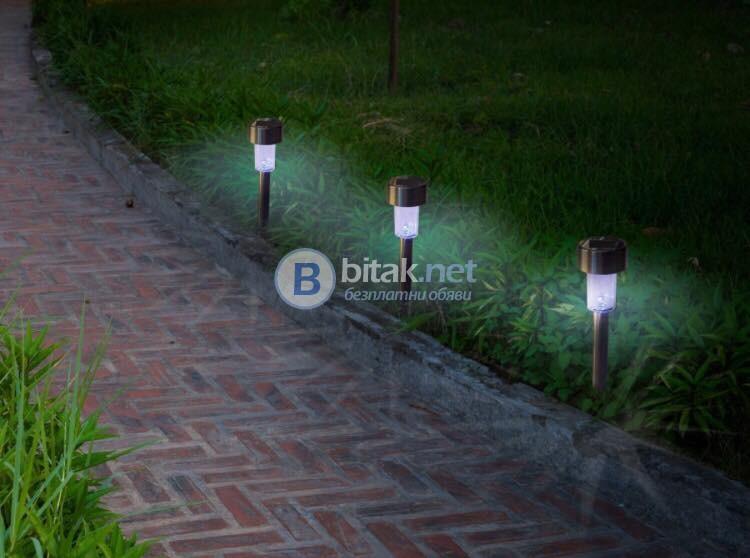 Комплект от 6 броя градински соларни LED лампи