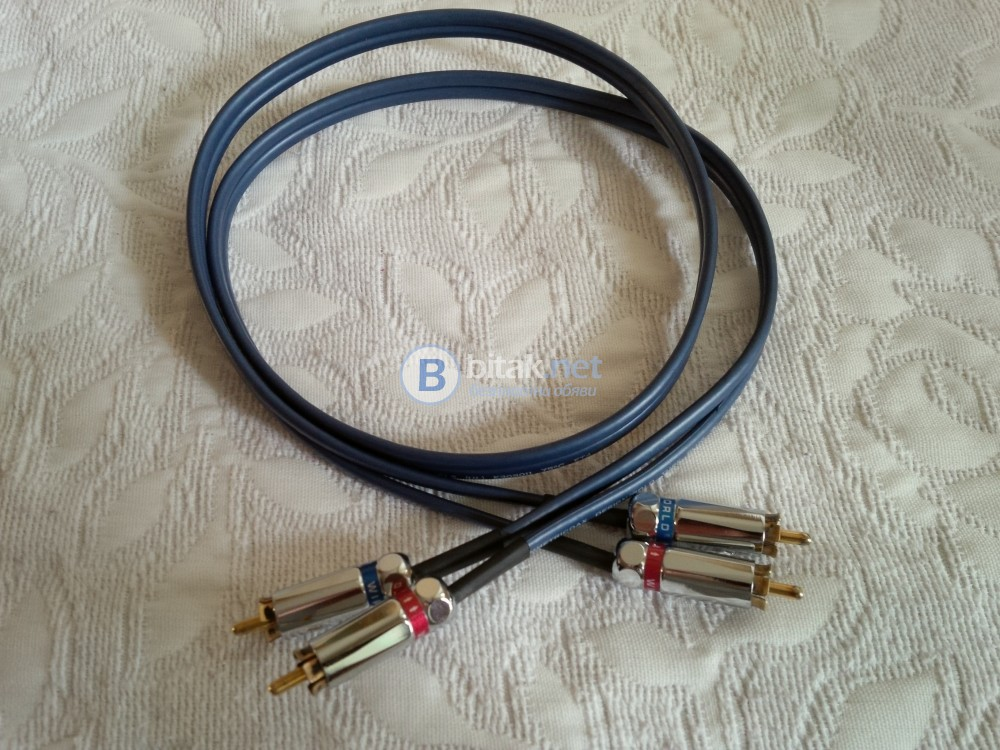 WIREWORLD LUNA 5 , качествен балансиран RCA чинчов кабел