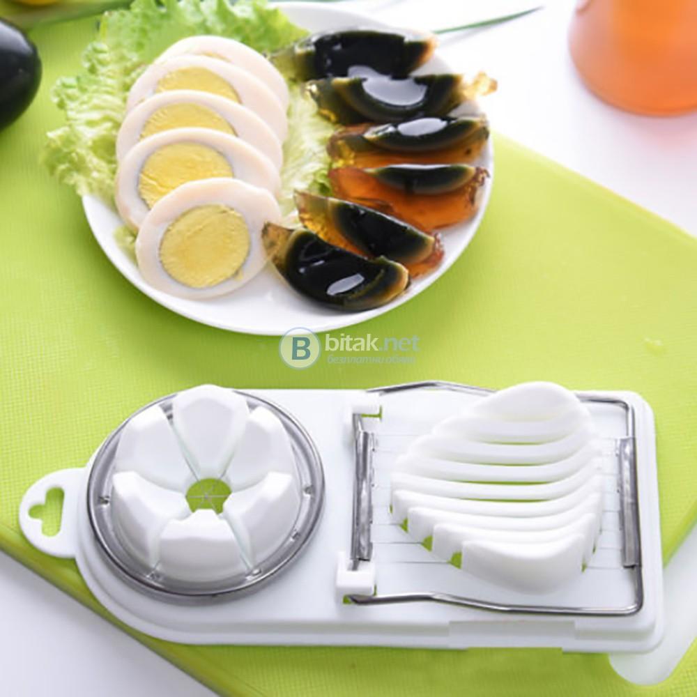 Резачка 2в1 за яйца варени картофи гъби маслини