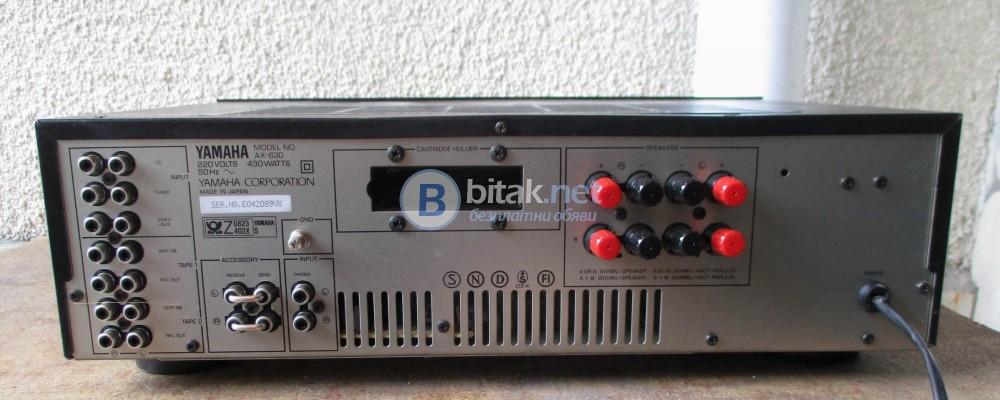 YAMAHA AX-630 – Транзисторен стерео усилвател от серията натурален саунд.