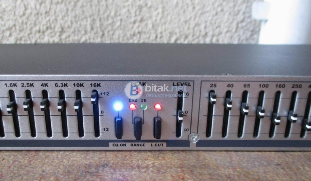 JB SYSTEMS EQ-215 – Профи еквалайзер 2 Х 15 канала.