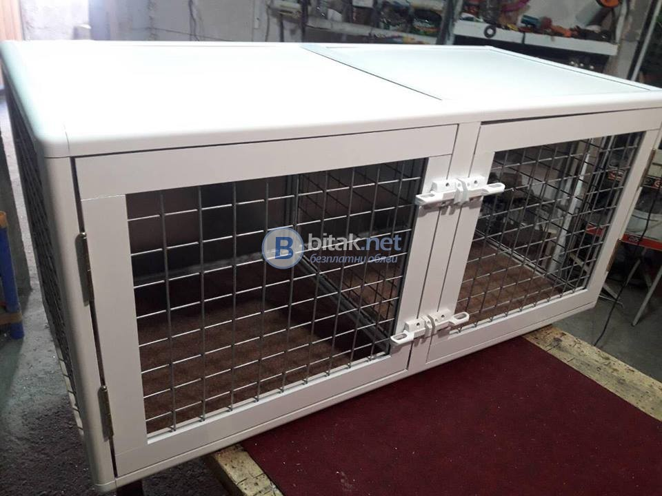 Продавам алуминиеви клетки за кучета