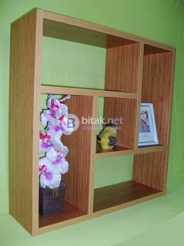 Етажерка за стена - Бамбук