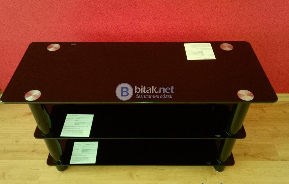 Чисто нова стъклена ТВ/Аудио маса , внос от Англия , 90х35х45 см. , закалени стъкла