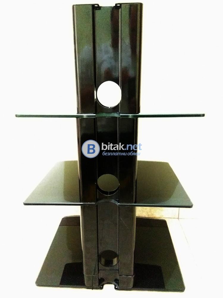 Стъклена TV/AV стойка за стена