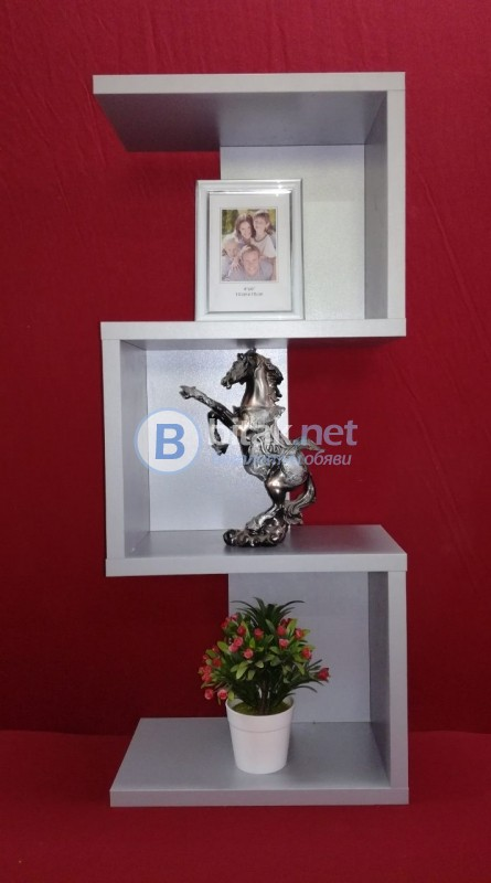 Етажерка за стена - Сив Металик