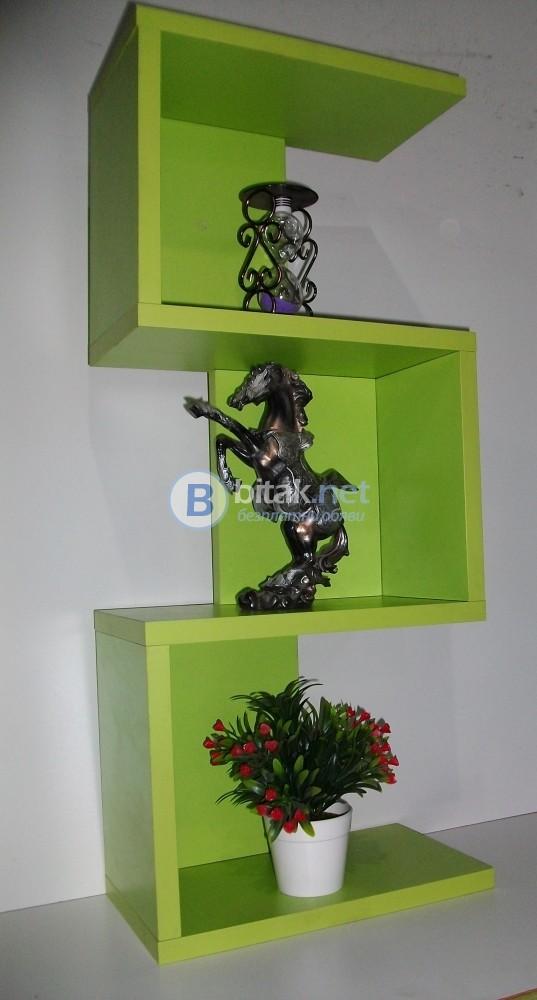 Етажерка за стена - Зелен Пастел