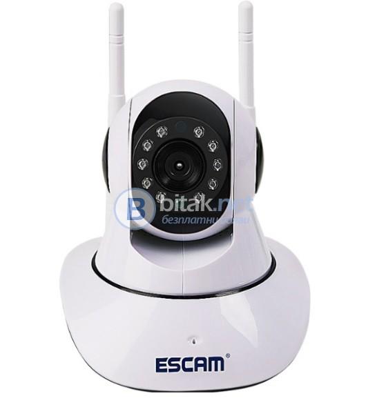 Моторизирана Wireless Wifi 720P камера за наблюдение ESCAM