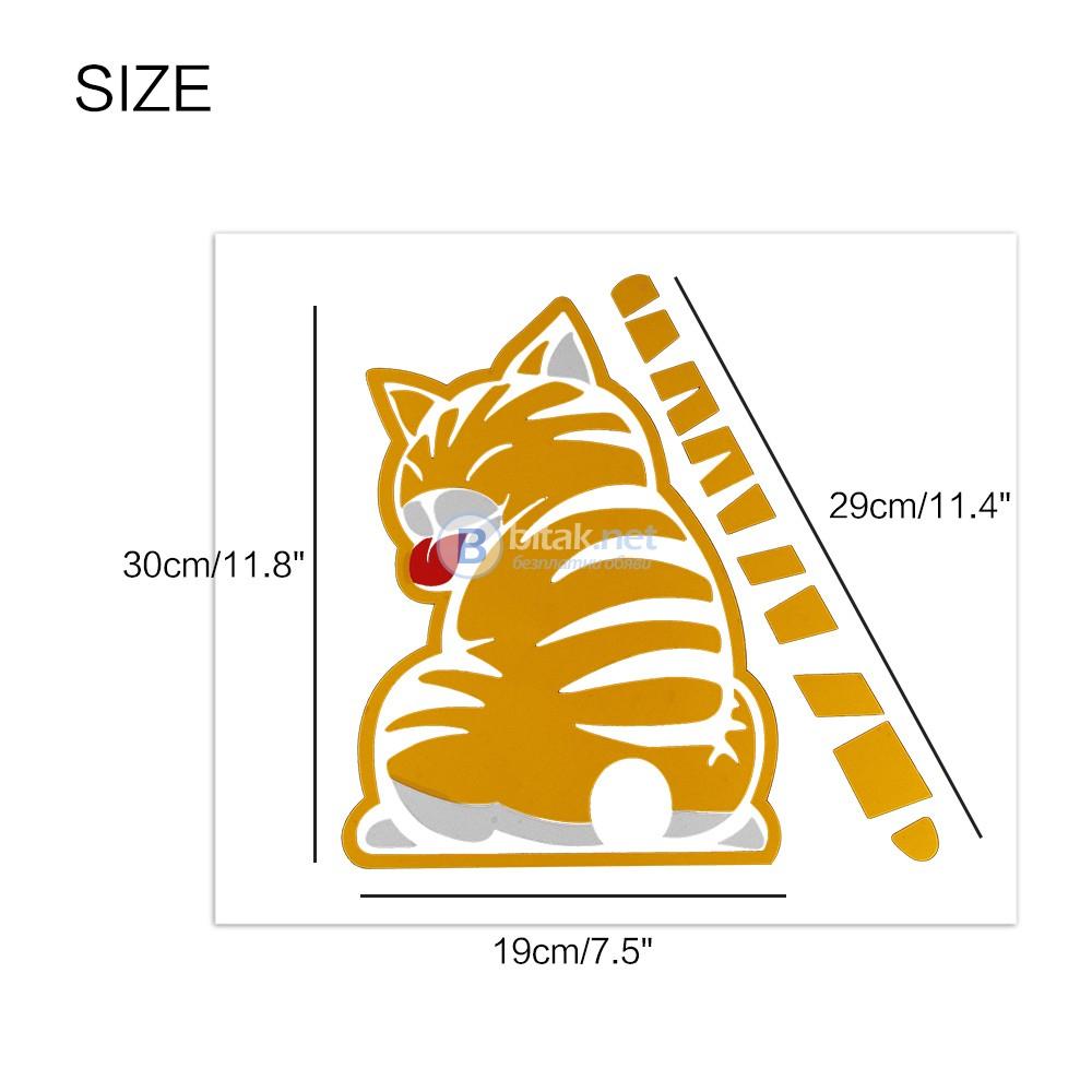 3D Стикер за кола забавна котка аксесоар за задно стъкло чистачка