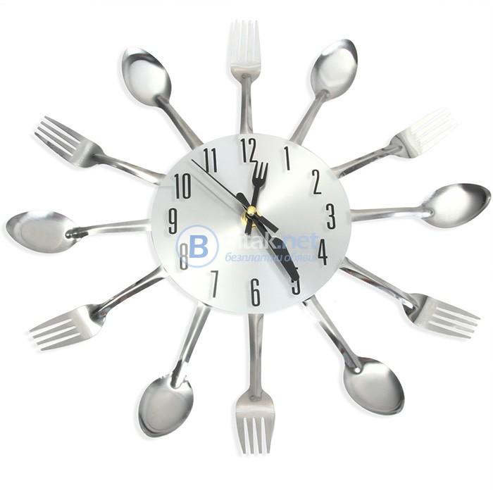3D стенен кухненски часовник с вилица лъжица домашен декор подарък