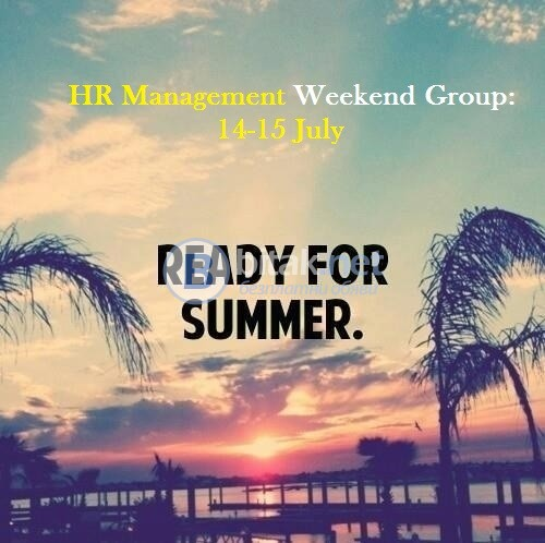 HR Management Weekend Group 14-15 July