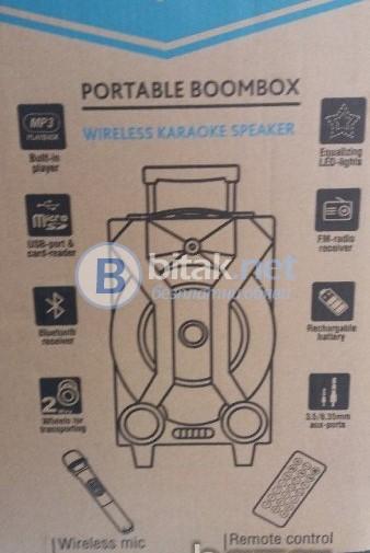 "Караоке 8 "" тонколона+акумулатор+FM+SD+USB+микрофон+KEMEI-31"