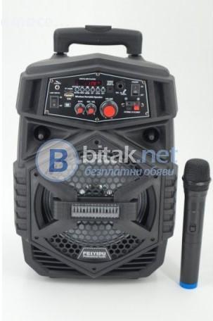 ES-4000 Караоке,активна тонколона+акумулатор+FM+SD+USB+микрофон