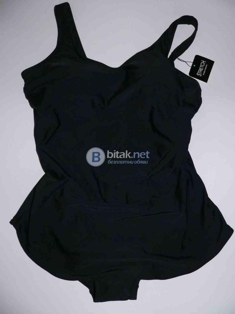 XL размер, Голям размер дизайнерски дамски бански рокля черна, swimdress, марка B.I.B.        Луксоз