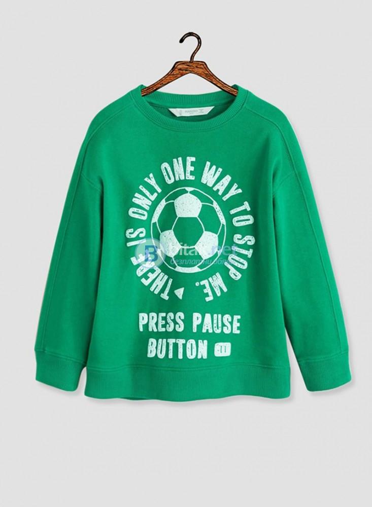 Нов пуловер Манго за дете 11/12 години в зелено, тънка вата - 20 лева