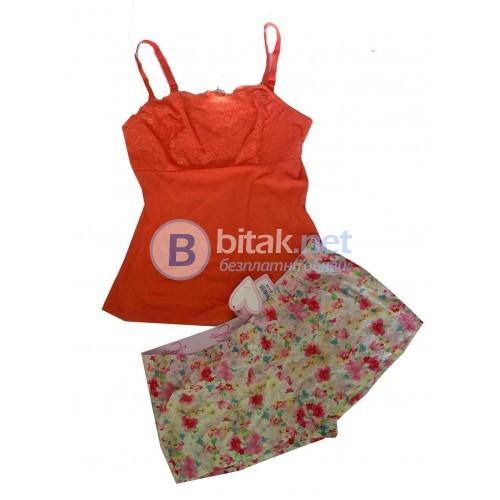 XL-16 размер, Голям размер дамска пижама/ гащета за вкъщи, памучна материя на цветя,и топ