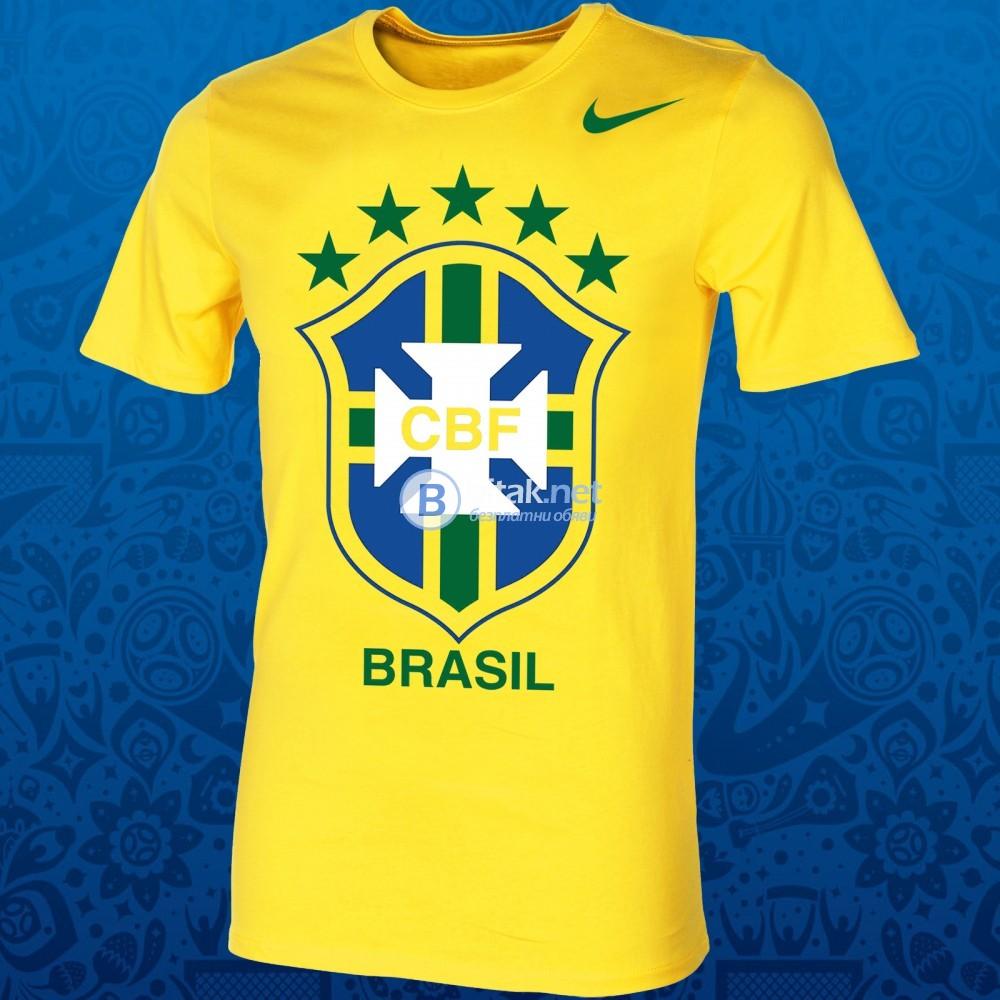 Мъжки и Детски тениски БРАЗИЛИЯ / BRAZIL NIKE с име и номер ПО ИЗБОР. НАД 10 ОТБОРА