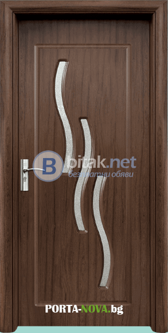 Интериорна HDF врата модел 014