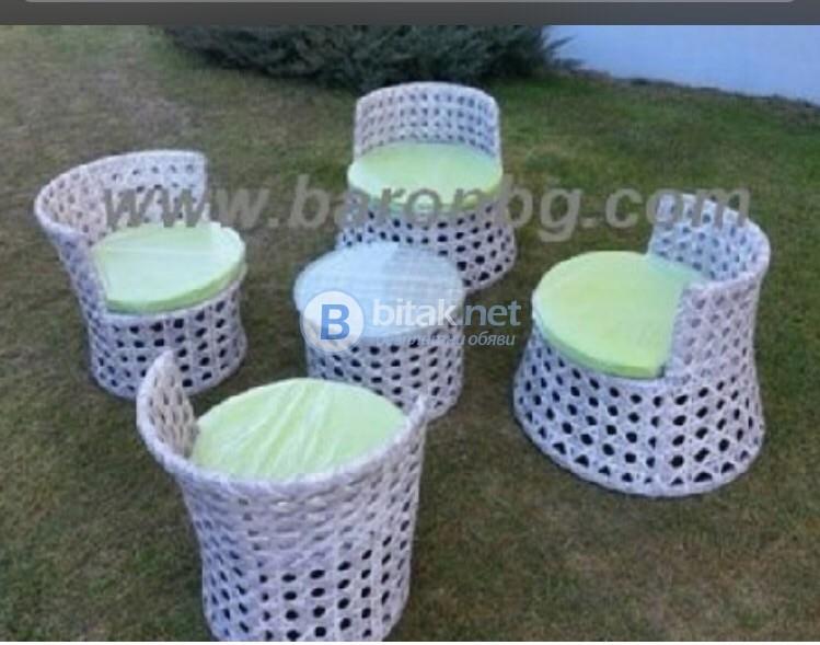 Комплект мебели от изкуствен ратан