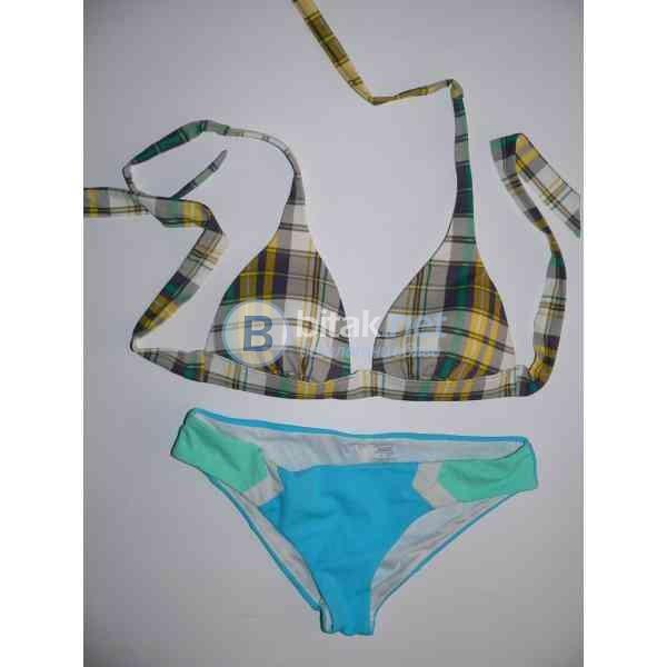..M razmer, Victoria's Secret, бански костюм от две части, горна част каре с дунапрен,долна част син