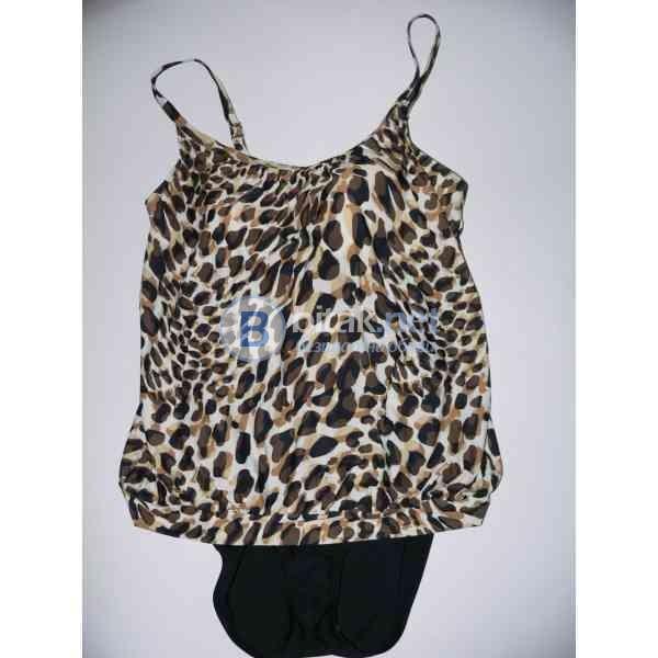 XL-16 размер,  дизайнерски дамски бански рокля черно и кафяво, марка croft&barrow     Луксозен  моде