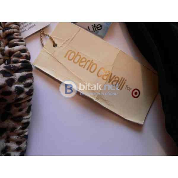 М/Л размер, Оригинален дизайнерски дамски бански горна част, roberto cavalli for, ladies swimwear  j