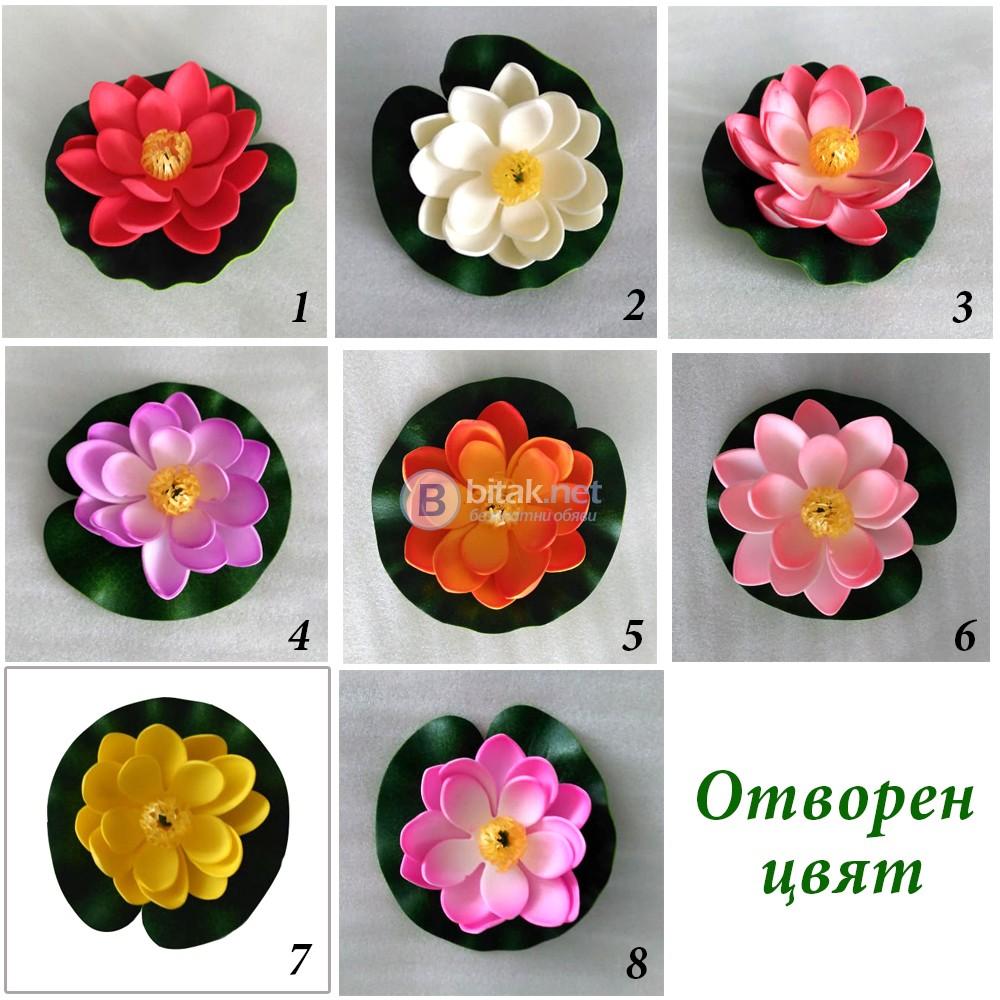 Изкуствена водна лилия за езерце шадраван декорация за градината отворен цвят лилии