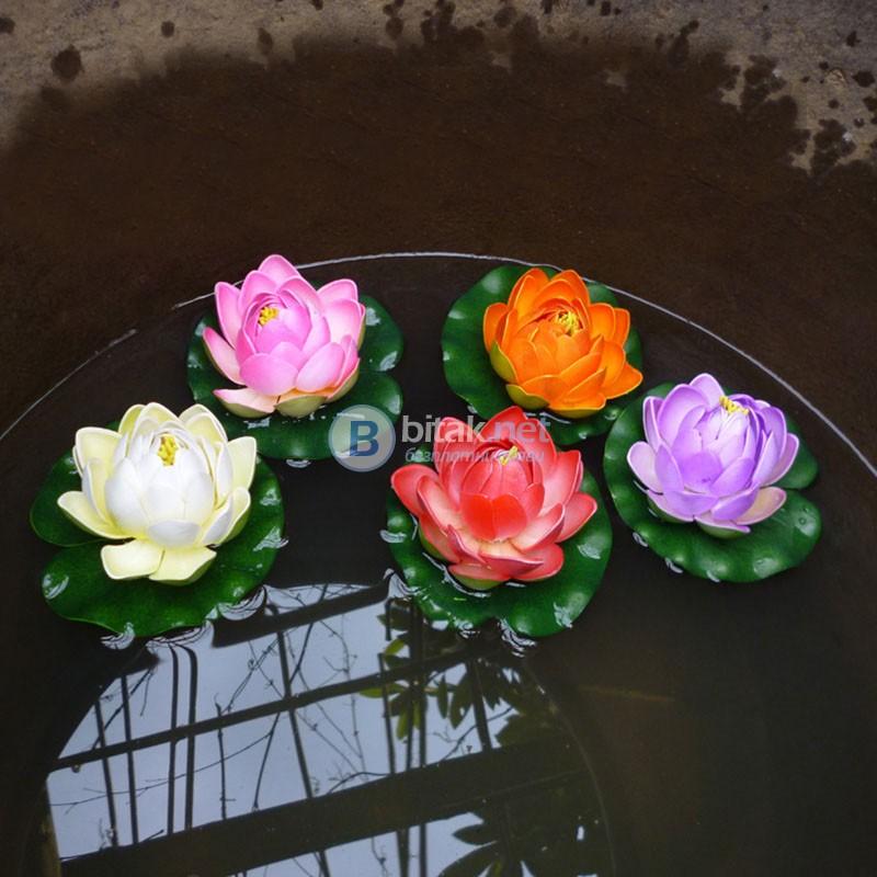 Плаваща изкуствена водна лилия за езерце шадраван декорация за градината затворен цвят