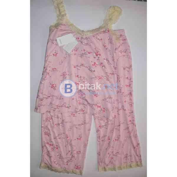 S/M размер, Комплект дамска дизайнерска пижама в розово, модал, Ladies Givoni Rickie Pink Capri 2 Pc