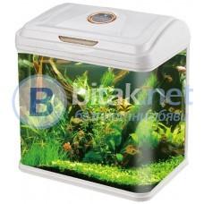 Аквариум за рибки 30 литра с ЛЕД осветление и водна помпа