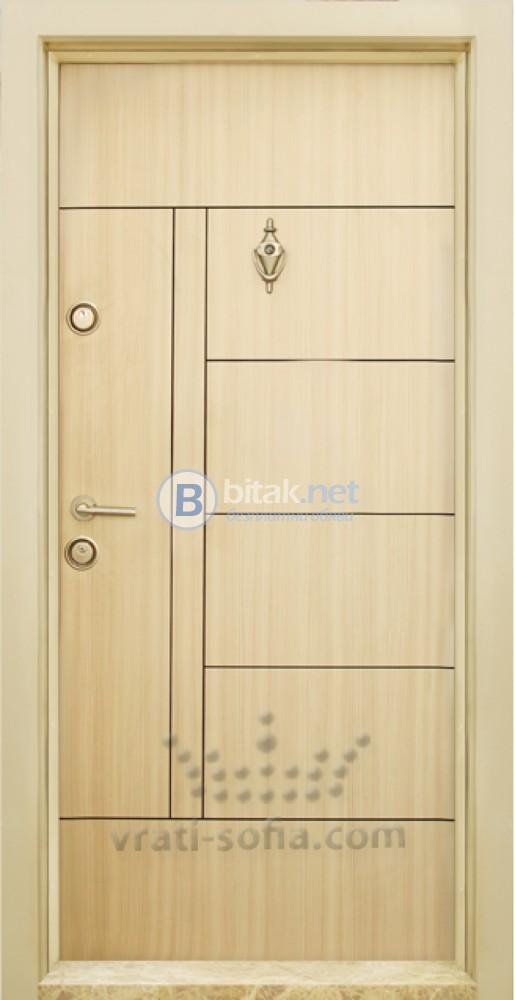 Блиндирана входна врата код Т587, цвят Зебра