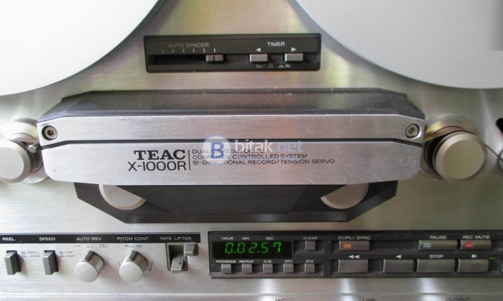 Магнетофон TEAC X-1000R – Сребрист красавец с 6 глави,3 мотора и DBX.