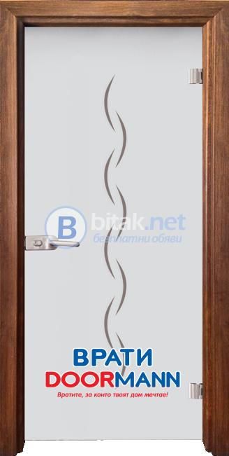 Стъклена врата модел Gravur