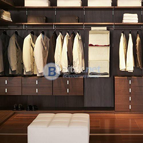 Висящ органайзер за дрехи сгъваем разпределител за гардероб с 3 рафта