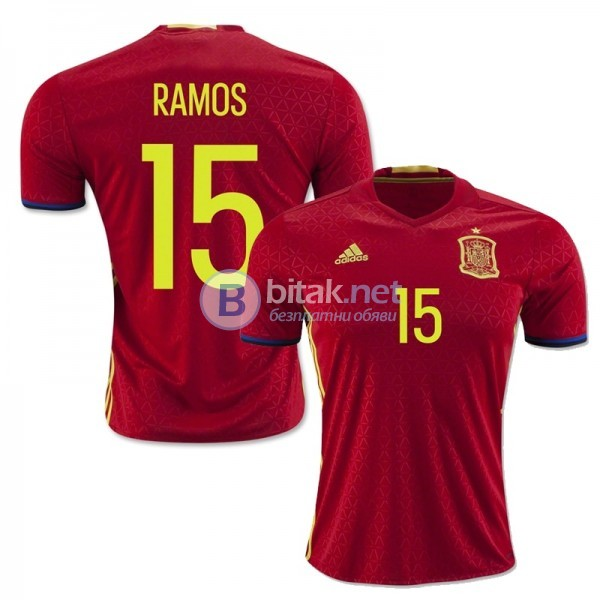 Серхио Рамос 15 - Адидас Испания титулярни екипи