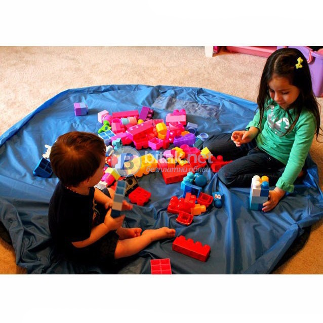 Сгъваемо килимче за игра чанта органайзер за детски играчки